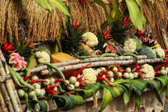 Thailändisches Lebensmittelgemüse und -früchte Stockfotos
