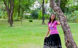 Thailändisches Mädchen-Porträt Lizenzfreies Stockfoto
