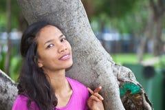 Thailändisches Mädchen-Porträt Stockbild