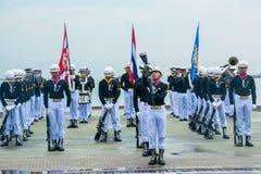 Thailändisches Marine Demonstating fantastisch bohren herein internationalen Flotten-Bericht stockbild