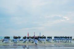 Thailändisches Marine Demonstating fantastisch bohren herein internationalen Flotten-Bericht lizenzfreies stockfoto