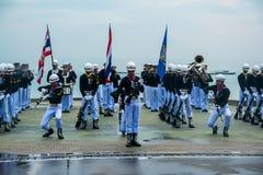 Thailändisches Marine Demonstating fantastisch bohren herein internationalen Flotten-Bericht stockbilder