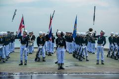Thailändisches Marine Demonstating fantastisch bohren herein internationalen Flotten-Bericht lizenzfreies stockbild