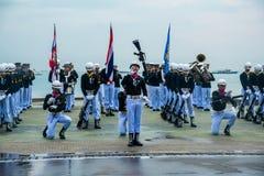 Thailändisches Marine Demonstating fantastisch bohren herein internationalen Flotten-Bericht stockfotografie