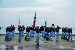 Thailändisches Marine Demonstating fantastisch bohren herein internationalen Flotten-Bericht lizenzfreie stockfotografie