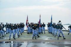 Thailändisches Marine Demonstating fantastisch bohren herein internationalen Flotten-Bericht stockfoto
