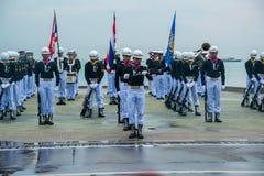 Thailändisches Marine Demonstating fantastisch bohren herein internationalen Flotten-Bericht lizenzfreie stockfotos