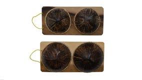 Thailändisches Massagewerkzeug der Kokosnuss stockfotos