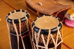 Thailändisches Musikinstrument der Trommeln Stockbild