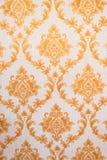 Thailändisches Muster Art Golden Lai Thai Background und Tapeten-Beschaffenheit Siamesischer traditioneller Art Stockbild