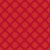 Thailändisches Muster im Wandbild Stockfotografie