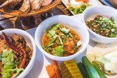 Thailändisches Nordlebensmittel Stockfotos