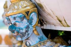 Thailändisches riesiges Nahaufnahmegesicht lizenzfreies stockbild