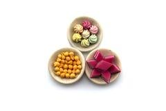 Thailändisches Süßspeise-Modell auf dem weißen Hintergrund Lizenzfreie Stockfotos