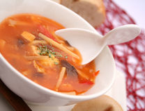 Thailändisches suppe Stockbild
