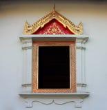 Thailändisches Tempel-Fenster in Watprasing-Tempel Chiangmai Thailand Lizenzfreie Stockfotos