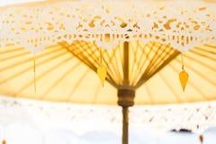 Thailändisches umbella verzieren in der Hochzeit Lizenzfreies Stockbild