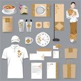 Thailändisches Unternehmensidentitä5sdesign des Restaurants Thailändischer Kunst Vektor Illus Lizenzfreies Stockbild