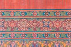 Thailändisches Wandkunstmuster Lizenzfreies Stockbild