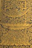 Thailändisches Wandkunstmuster Lizenzfreies Stockfoto