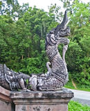 Thailändsk arkitektonisk prydnad Arkivfoto