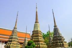 Thailändsk arkitektur i Wat Pho på Bangkok av Thailand Royaltyfri Bild