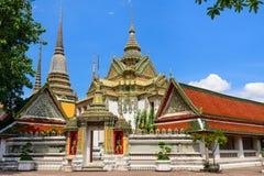 Thailändsk arkitektur i Wat Pho på Bangkok, Thailand Arkivbild