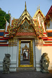Thailändsk arkitektur: Wat pho, Bangkok, Thailand Fotografering för Bildbyråer
