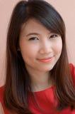 Thailändsk asia kvinna Arkivbild