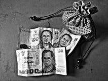 Thailändsk Baht Fotografering för Bildbyråer