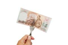Thailändsk baht 1000 Arkivbilder