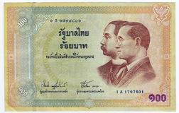 Thailändsk baht för pengar 100 Royaltyfri Foto
