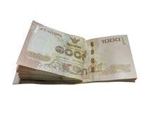 Thailändsk baht som är thailändsk, pengar Arkivfoto