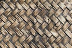 Thailändsk bambuhandworkplatta Arkivbild