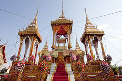Thailändsk begravning royaltyfria bilder