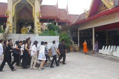 Thailändsk begravning royaltyfri bild
