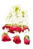 Thailändsk blommagirland Arkivfoto