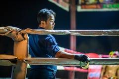 Thailändsk boxarefestival i Thailand fotografering för bildbyråer