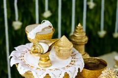 Thailändsk bröllopceremoni Royaltyfri Fotografi