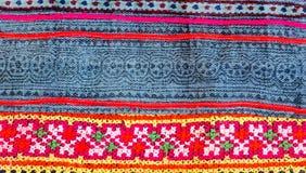 Thailändsk broderi, handgjord stamtextilstil Arkivfoto