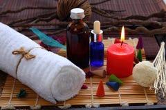 Thailändsk brunnsort och massage Arkivbilder