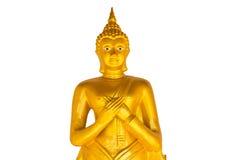 Thailändsk Buddha guld- staty. Royaltyfri Bild