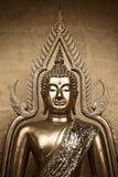 Thailändsk Buddha i Sepia Royaltyfria Foton