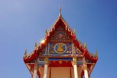 Thailändsk buddistisk tempel 001 för Closeup Arkivfoton