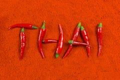 Thailändsk chili Arkivfoto