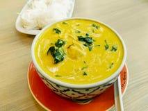 Thailändsk curry med krabbakött Royaltyfri Fotografi