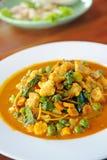 Thailändsk curry med kryddigt arkivbilder