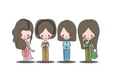Thailändsk custumuppsättning Arkivbild