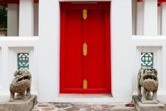 Thailändsk dörrkonstarkitektur Royaltyfri Bild