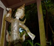 Thailändsk dansstaty 1 Arkivfoto